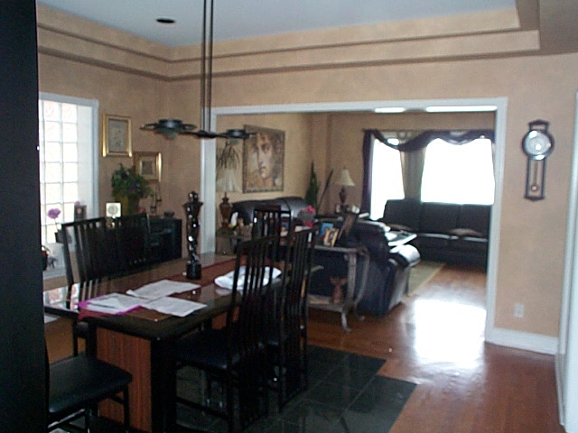Dining room and part of living room